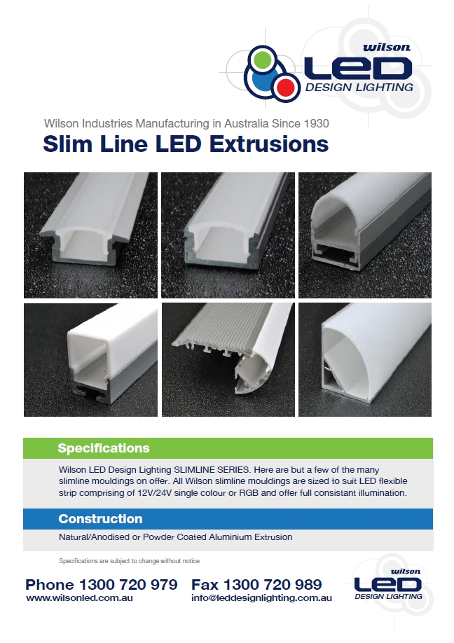 Wilson Slim Line Extrusions LED Brochure Image  | LED Brochures
